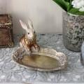 バロックラビットミニトレイ ウサギの置物 アンティーク風 雑貨 シャビーシック フレンチカントリー 輸入雑貨 アンティーク 雑貨