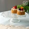 おしゃれ ガラス食器 オフィーリア・ケーキスタンド  ケーキプレート アンティーク 食器 洋食器 ガラス製 トルコ製 アンティー
