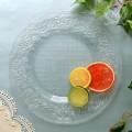 おしゃれ ガラス食器 オフィーリア・フリルプレートL ディナープレート 小鉢 アンティーク 食器 洋食器 ガラス製 トルコ製 ア