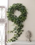 アイビーのリース 造花 アイビー リース シルクフラワー アーティフィシャルフラワー ウォールデコ 壁飾り グリーン