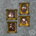 バロックミニフレーム4個セット ミニ額絵 ウォールデコ  お洒落雑貨 アンティーク風 雑貨 輸入雑貨 antique shabby chic