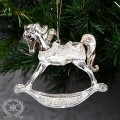 (SALE30)ツリーオーナメント(ロッキングホース・ゴールド8274)クリスマスツリー オブジェ クリスマス ディスプレイ