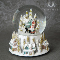 スノードーム・オルゴール(パステルハウス8751)星に願いを クリスマスツリー オブジェ クリスマス ディスプレイ シャビーシッ