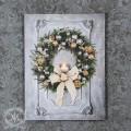 クリスマス雑貨 LEDウォールアートパネル・リボンリース(8110)壁飾り クリスマスツリー オブジェ クリスマス ディスプレイ 飾