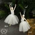 ツリーオーナメント(ホワイトバレリーナ・片手/両手8145)クリスマスツリー オブジェ クリスマス ディスプレイ シャビーシ