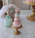 ロゼットケーキ オーナメント (8159) スウィーツオブジェ ケーキ 置物 ディスプレイ シャビーシック 可愛い アンティーク 雑貨