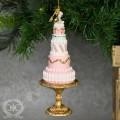 ツリーオーナメント(ロゼットケーキ・8159)クリスマスツリー オブジェ クリスマス ディスプレイ シャビーシック 可愛い ア