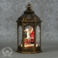 クリスマス雑貨 LEDランタンデコ・サンタ(8222)クリスマスツリー オブジェ クリスマス ディスプレイ シャビーシック 可愛い