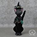 とんがり帽子のブラックキャット 猫の置物 キャットオブジェ 黒猫 ディスプレイ シャビーシック 可愛い アンティーク 雑貨 輸