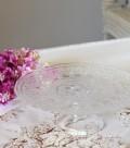 流行りのモロッコテイスト♪ アラベスク・ケーキスタンドL (クリアー) ケーキプレート 洋食器 ガラス製 トルコ製 アンティーク
