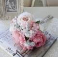 造花 ブーケ ピンク(8402)アーティフィシャルフラワー シルクフラワー アンティーク風 アンティーク 雑貨 姫系 輸入雑貨 シャ