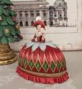 オペラドレス クィーンボックスオブジェ 8536 クリスマス 飾り 置物 オブジェ ヨーロピアン アンティーク風 アンティーク 雑貨