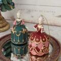 オペラ バレリーナオーナメント ピンク/グリーン 8552 クリスマス 飾り ミラートレイ 置物 オブジェ ヨーロピアン アンティーク