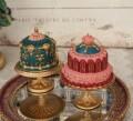 オペラ ケーキオーナメント ピンク/グリーン 8551 クリスマス 飾り ミラートレイ 置物 オブジェ ヨーロピアン アンティーク風 ア