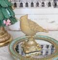 ゴールドバード スタンドオブジェ 8495 クリスマス 飾り 置物 オブジェ ヨーロピアン アンティーク風 アンティーク 雑貨 姫系 輸