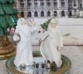 ホワイトガウン サンタオブジェ ベル/ツリー 8507 クリスマス 飾り 置物 オブジェ ヨーロピアン アンティーク風 アンティーク 雑