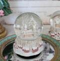 ピンクチャーチ スノードーム オルゴール 8607 クリスマス 飾り 置物 オブジェ ヨーロピアン アンティーク風 アンティーク 雑貨