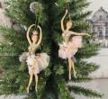 チュチュバレリーナ8633 オーナメント クリーム/ピンク クリスマス 飾り 置物 オブジェ ヨーロピアン アンティーク風 アンティー