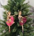 チュチュバレリーナ8632 オーナメント ローズ/パープル クリスマス 飾り 置物 オブジェ ヨーロピアン アンティーク風 アンティー