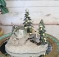 ミニベア スノーボール&ガール 8512 クリスマス 飾り 置物 オブジェ ヨーロピアン アンティーク風 アンティーク 雑貨 姫系 輸入