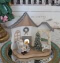 サンタルーム LEDオブジェ  8514 クリスマス 飾り 置物 オブジェ ヨーロピアン アンティーク風 アンティーク 雑貨 姫系 輸入雑貨