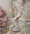 フラワーフェアリー 妖精 8736 置物 オブジェ ヨーロピアン アンティーク風 アンティーク 雑貨 姫系 輸入雑貨 シャビーシック 可