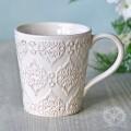 アンティーク 食器 雑貨 アンティーク風 (ホワイトトリアノン) マグカップ マグ 白い食器 カフェ食器 陶器 姫系 フレンチカン