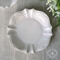 アンティーク 食器 雑貨 アンティーク風 (ホワイトトリアノン) プレート皿 ケーキプレート 白い食器 カフェ食器 陶器 姫系 フ