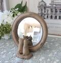 アンティークなキャットミラー 8769 スタンドミラー 鏡 猫 可愛い おしゃれ アンティーク風 雑貨 輸入雑貨 antique shabby chic