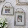 バロック リボンフレーム・縦/横(8416)壁掛けフレーム 写真 額 フレンチ アンティーク風 アンティーク 雑貨 姫系 輸入雑貨 シ