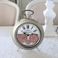 アンティークな歯車クロック 置時計 シャンパン(8429)テーブルクロック アンティーク風 アンティーク 雑貨 姫系 輸入雑貨 シャ
