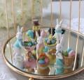 イースターバニー&バード ミニオブジェ5個セット (8415) イースター 飾り 置物 小鳥 ウサギ アンティーク風 アンティーク 雑貨