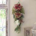 フラワーデコ・アジサイ ボルドー(8395) 造花 壁掛け 紫陽花 スワッグ シルクフラワー アーティフィシャルフラワー ウォールデ