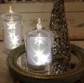 クリスマス置物 (アクリルスターキャンドルS LED6743)アンティーク風 シャビーシック 北欧 フレンチ ロマンティック