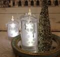 クリスマス置物 (アクリルスターキャンドルL LED6744)アンティーク風 シャビーシック 北欧 フレンチ ロマンティック