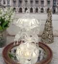 クリスマス 置物 アクリル LED カルーセルオルゴール 8475 アンティーク風 シャビーシック 北欧 フレンチ ロマンティック