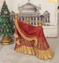 キャンドルホルダー オペラドレープ 8542 クリスマス 飾り 置物 オブジェ ヨーロピアン アンティーク風 アンティーク 雑貨 姫系