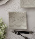 La Ceramica V.B.C ラ・セラミカ イタリア スクエアプレート 020 ケーキ皿 小皿 四角 イタリア製 輸入食器 シャビーシック アン