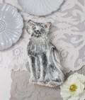 La Ceramica V.B.C ラ・セラミカ イタリア キャットプレート 猫の飾り皿 シャビーシック アンティーク風 洋食器 イタリア製 輸入