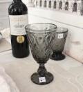 ワイングラス (リヨネ グレー 230cc) フランス製 【La Rochere】 ラロシェール ウォーターグラス ガラス食器 お洒落