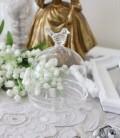 マチルドエム フランス 小鳥ドームコンポート ガラス製 (156) ガラスケース 可愛い マチルドM Mathilde M. シャビーシック アン