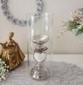 マチルドエム フランス ガラスキャンドルホルダー (111) ホワイト 燭台 アイアン 可愛い マチルドM Mathilde M. シャビーシック