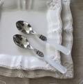 ティースプーン カトラリー エメ EME ナポレオン パールホワイト イタリア製 ハンドメイドの美しいカトラリー ケーキフォーク テ