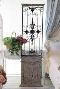 アイアンパネル(110098) アンティーク風仕上げ アイアン&ウッドのアイアンウォールオブジェ 壁飾り ウォールパネル ブロ