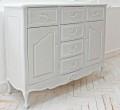 (予約注文品 12月分)シャビーシック リュバンシリーズ サイドボード (1362) 収納家具 リビングボード キャビネット 木製 (白家