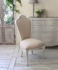 (予約注文品 12月分) シャビーシック リュバンシリーズ ダイニングチェア (1369) 椅子 チェア 木製 (白家具 ロココ調 姫系 姫