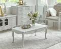 シャビーシック リュバンシリーズ リビングテーブル (1368)センターテーブル ローテーブル 木製 (白家具 ロココ調 姫系 姫家具