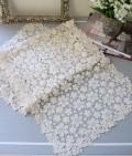 アンティークフルールシリーズ(ランナー40×120cm角)レースドイリー テーブルセンター テーブルランナー 布製 ホワイト 敷物