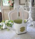 ジャルダンシリーズ スクエアジョーロM 291 ブリキ ジョウロ 花瓶 プランター 鉢カバー 小物入れ  可愛い アンティーク風 シャビ