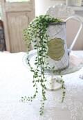 グリーンネックレス  造花 ナチュラル 北欧 可愛い グリーン シルクフラワー アーティフィシャルフラワー インテリアフラワー フ